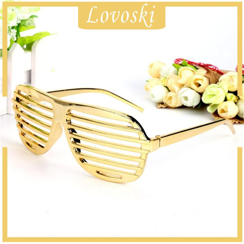 [LOVOSKI] Funny Kids Adults Gold Shutter Shades Sunglasses Funny Party Dress Up