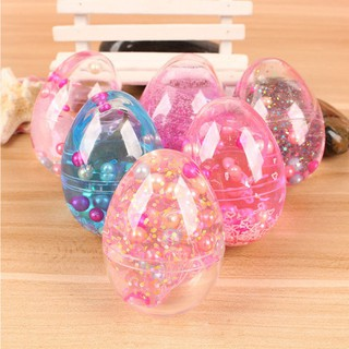 DIY Plasticine Children Egg Pearl Sequin Crystal Mud Toy Intellectual