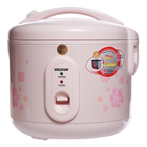 Nồi cơm điện Goldsun 1,2 lít ARC-G12AB2 màu hồng