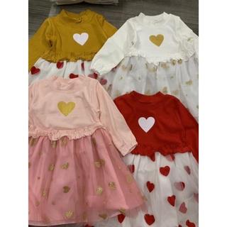 Váy xoè bé gái trái tim cực yêu