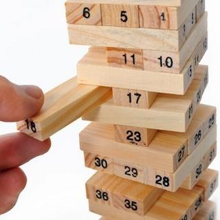 Bộ chơi rút gỗ kèm xúc xắc [54 chi tiết]