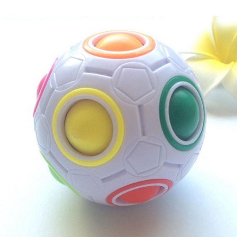Children Gift Magic Rainbow Ball Decompression Cube Creative Soccer Rubik Football Press Toy