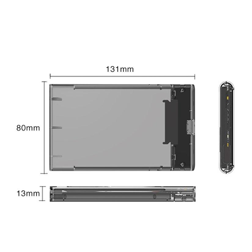 8.15【HOT】Hi-Speed USB3.0 to SATA Hard Disk Drive Case 2.5