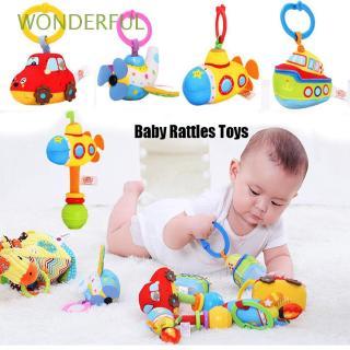 🌼WONDERFUL New Baby Cartoon Rattles Puppet handbell Early Educational Soft Rings Doll