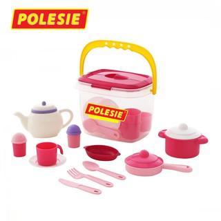 [Mã TOYDEC giảm 10% tối đa 15K đơn từ 50K] Bộ đồ chơi phụ kiện nhà bếp Nasten'ka cho 4 người (29 mảnh) – Polesie Toys