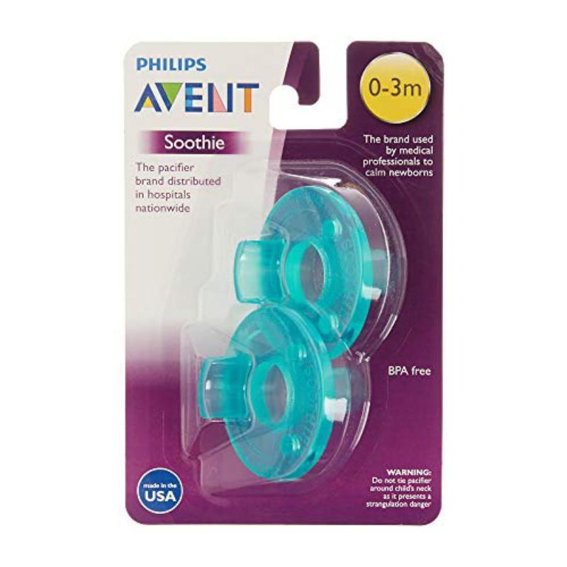 (Sản xuất tại Mỹ) Set 2 Ty ngậm Avent siêu mềm cho bé 0-3 tháng