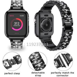 Dây đeo Apple Watch Strap 38/40mm 42/44mm Dây liên kết sáng bóng bằng thép không gỉ cho iWatch Series SE 6/5/4/3/2/1