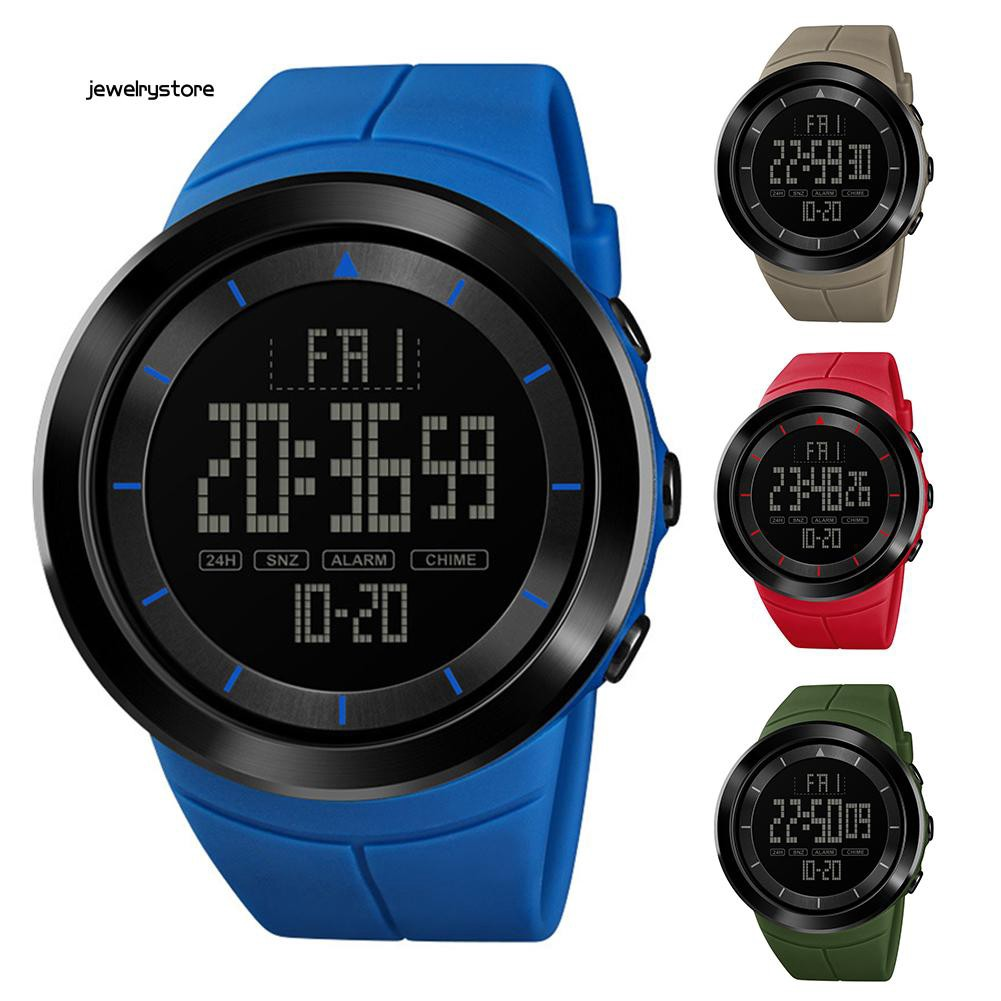 Đồng hồ điện tử nam hiển thị ngày tháng mặt tròn