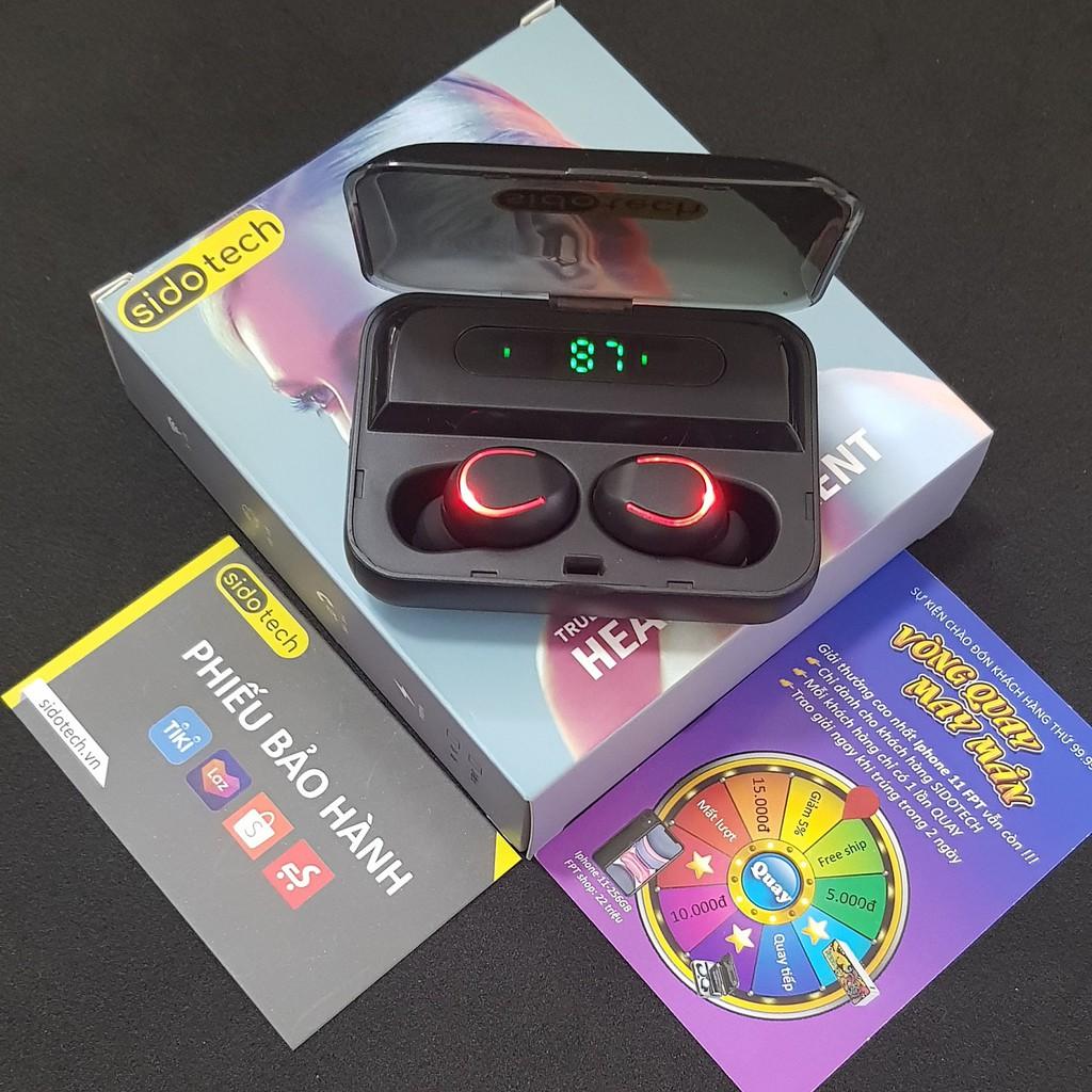 Tai nghe bluetooth không dây mini SIDOTECH F9 Plus TWS true wireless có mic in ear chống ồn gaming thể thao - Chính Hãng