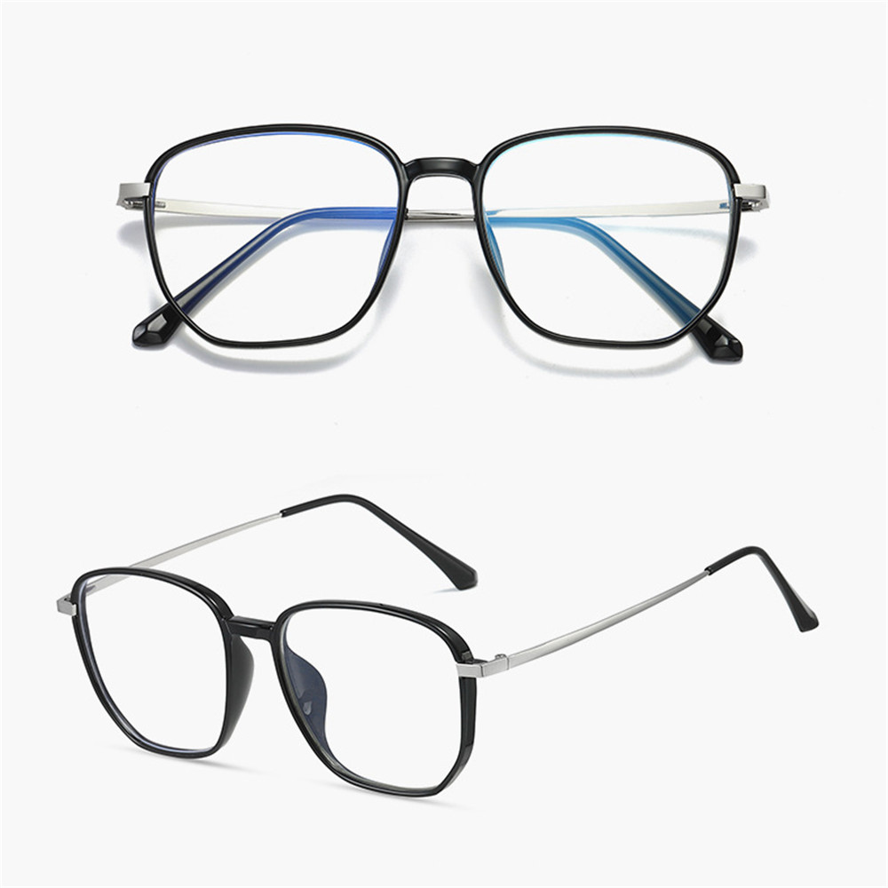 🌟YEW🌟 Retro Blue Light Blocking Glasses Vision Care Safety Goggles Office Computer Goggles Square Frame Anti Eyestrain Unisex Radiation Protection...