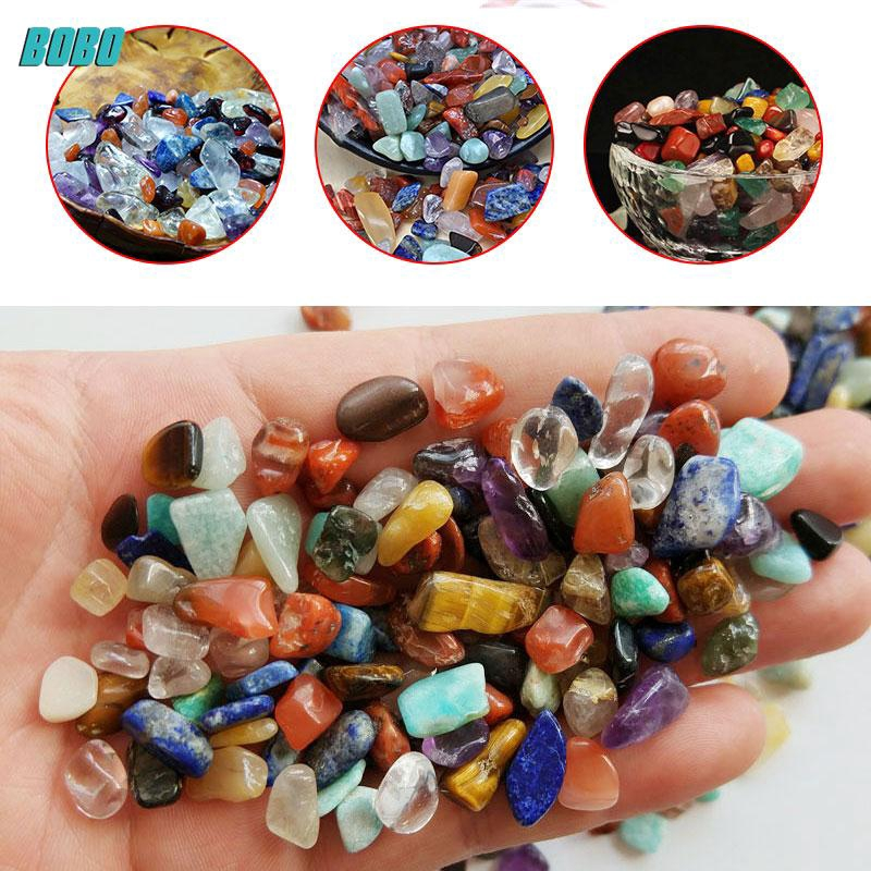 100g/1Bag Natural Colorful Crystal Stone Point Gravel Garden Decor Random