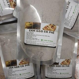 Bột cám gạo cafe tẩy da chết  dưỡng da gói 500g handmade