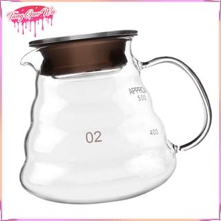 Heat Resistant Glass Hand Drip Coffee Pot Coffee Server Kettle Coffee Maker Teapot 250ml/8.45oz; 360ml/12.17oz; 600ml/20.3oz; 800ml/27oz