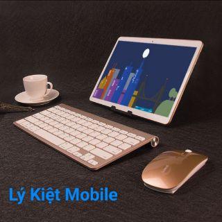 Máy tính bảng laptop As888 tặng bao da bàn phím chuột bluetooth ram 6g
