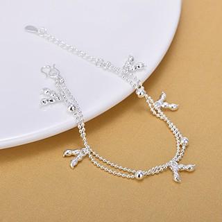 Lắc chân dây đôi thời trang, bạc S925 - LC42 thumbnail