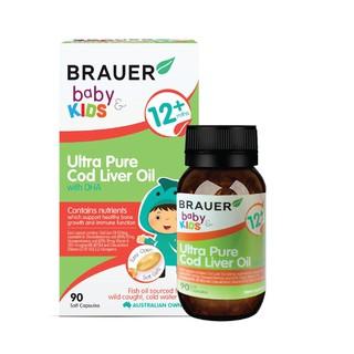 Brauer Bổ sung DHA dầu gan cá tuyết cho trẻ từ 1 tuổi trở lên (90 viên nang)