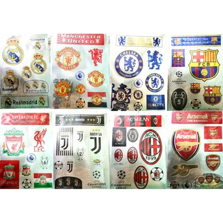 Sticker decal dán manchester united chelsea arsenal liverpool real barca AC Milan