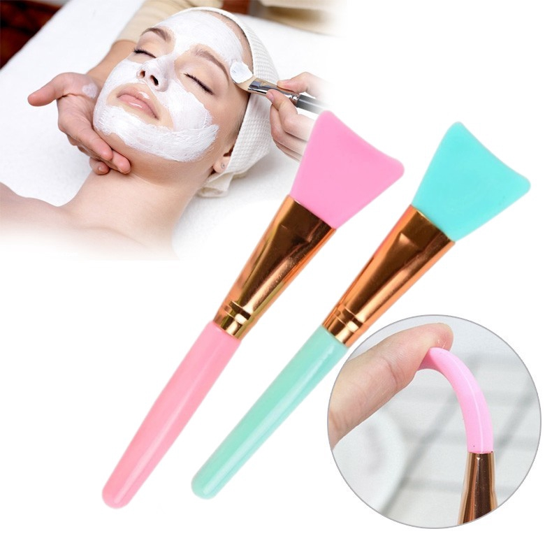 【TGS】DIY Facial Mask Stirring Soft Silicone Makeup Brush Mud Mixing Skin Care Beauty Makeup Tools
