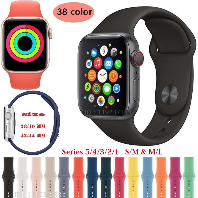 Dây đeo silicone mềm cho đồng hồ thông minh Apple Watch 38/40mm 42/44mm - iWatch Series SE 6/5/4/3/2/1