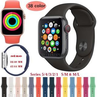 Dây đeo silicone mềm cho đồng hồ thông minh Apple Watch 38 40mm 42 44mm - iWatch Series SE 6 5 4 3 2 1 thumbnail