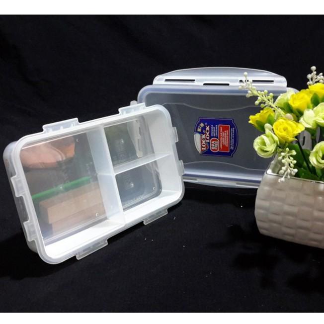 Hộp đựng thức ăn chia ngăn Lock & Lock bằng nhựa (850ml)
