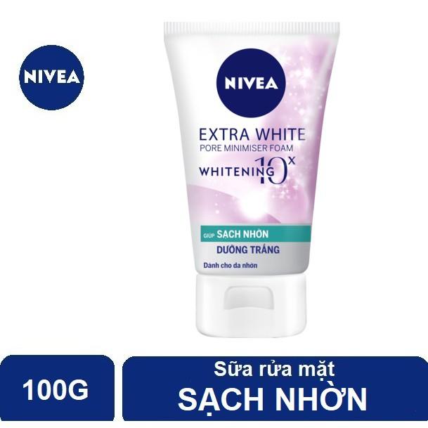 Sữa rửa mặt Nivea sạch nhờn, sáng da & se khít lỗ chân lông (100g) - 81295