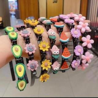 Bờm tóc Hàn quốc đính hoa quả cho bé gái ,đáng yêu ,có kẹp giữ tóc ,nhựa cao cấp thumbnail