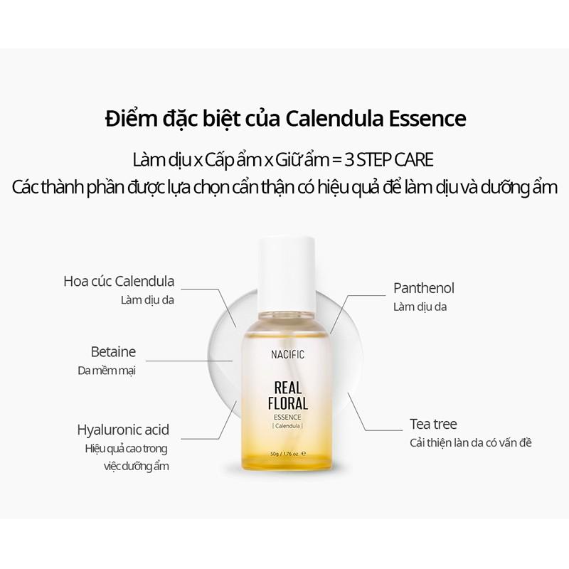 Tinh chất làm dịu da NACIFIC Real Floral Calendula Essence 50ml   Shopee  Việt Nam