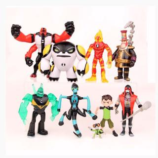 Ben 10 Action Figure Play set Toy Cake Topper Heatblast Four Arms Model Toys