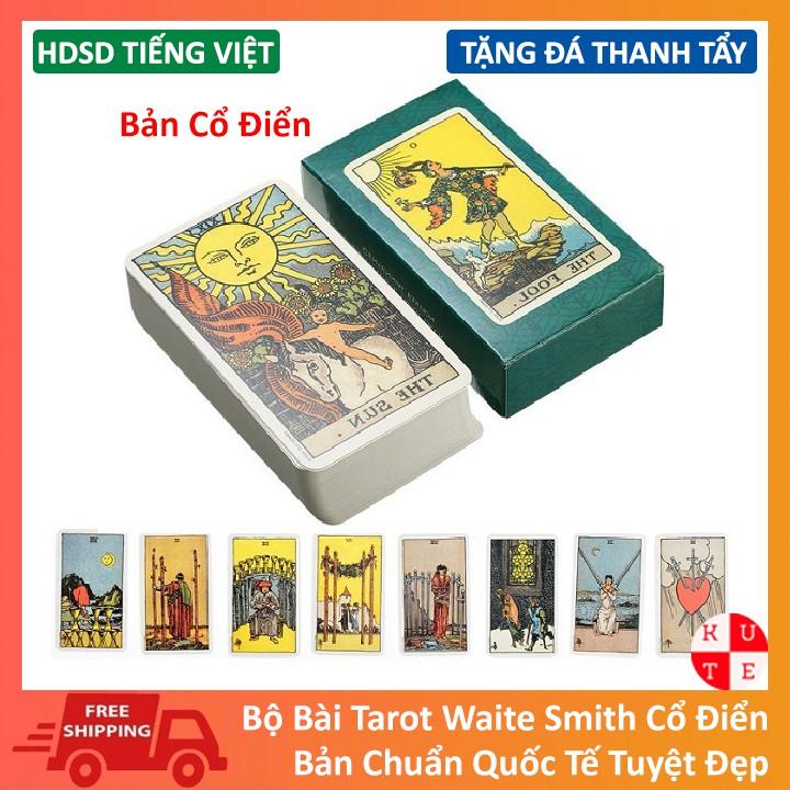 Bài Tarot Giá Rẻ Waite Smith Kèm Hướng Dẫn Tiếng Việt Và Đá Thanh Tẩy