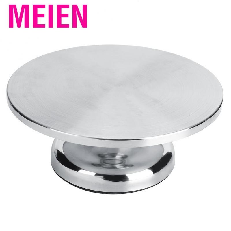 Meien 30cm Household Stainless Steel Cake Stand Turntable Rotating Base Decorating Table DIY Kitchen Utensil