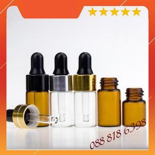 Combo 5 Lọ chiết mỹ phẩm 2ml, 5ml màu nâu, trắng - không chứa dung dịch thumbnail