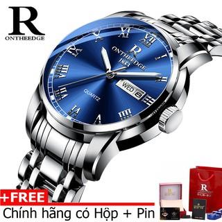 (Đẳng cấp) Đồng hồ nam cao cấp Ontheedge R-13 dây đúc đặc không gỉ kính tráng Sapphiare + full hộp thumbnail