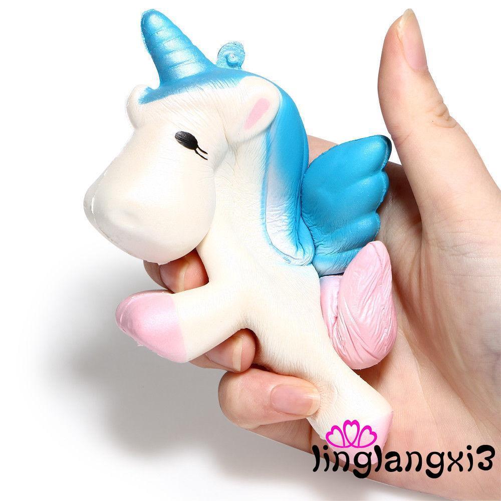 Đồ chơi bóp Squishy hình ngựa Unicorn dễ thương 4 bên