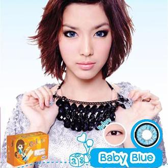 [CHÍNH HÃNG] Lens màu 3 tháng Maxim Colors - màu BABY BLUE thời trang cao cấp, an toàn cho mắt
