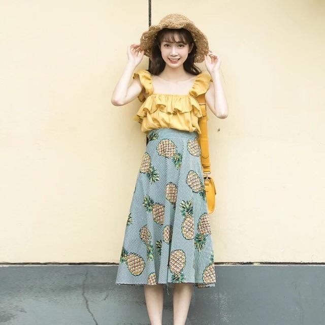 Sét chân váy dứa áo bèo xinh lắm - 3123023 , 1304605664 , 322_1304605664 , 180000 , Set-chan-vay-dua-ao-beo-xinh-lam-322_1304605664 , shopee.vn , Sét chân váy dứa áo bèo xinh lắm