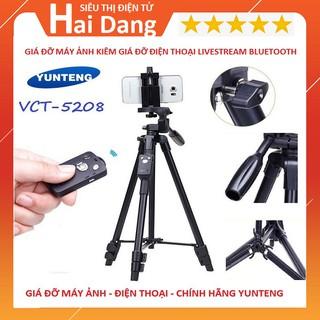 Giá Đỡ Điện Thoại, Chân Máy Ảnh Camera Chuyên Nghiệp Yunteng VCT 5208 Livestream Hàng Chính Hãng