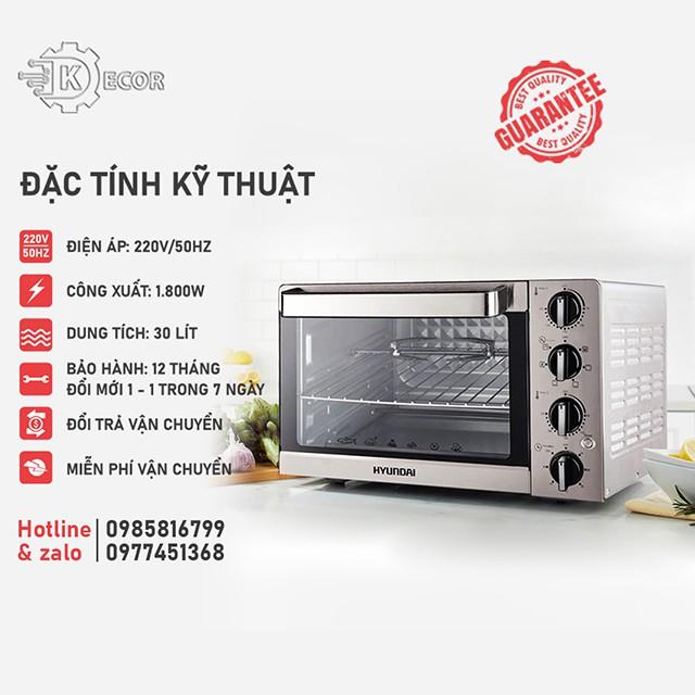 ✅Lò Nướng Hyundai HDE 3000S✅ Dung tích 30L,35L,45L✅ Bảo hành 12 tháng
