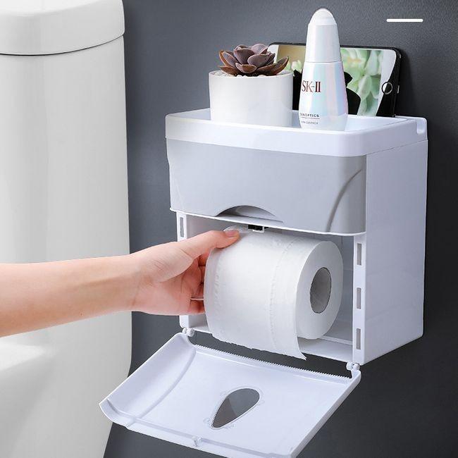 Hộp đựng giấy vệ sinh đa năng có ngă