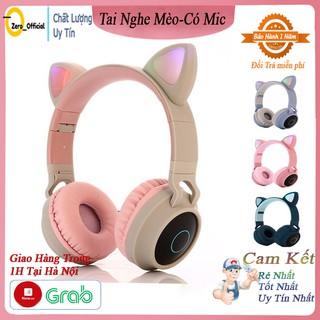 Tai Nghe Mèo Bluetooth, Headphone Tai Mèo Dễ Thương Có Mic,Âm Bass Mạnh Mẽ Và Dung Lượng Pin Khủng 400mAh BH 12 Tháng thumbnail