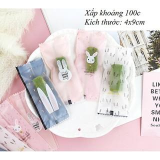 Túi đựng kẹo nougat hình thỏ [100 túi]