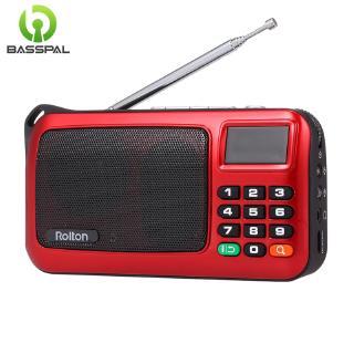 Loa nghe nhạc Basspal W405 kèm Radio FM USB hỗ trợ thẻ TF cho PC/iPod/điện thoại có LED và đèn flash tiện dụng