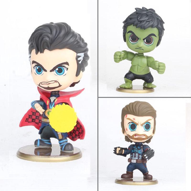 The Avengers Hulk Captain America Dr.Strange PVC Action Figure Super Heroes Toys