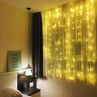Hình ảnh Đèn LED Trang Trí Thả Mành Kiểu Rèm Mưa Nhiều Kích Thước 3m x 3m; 3m x 2,5m; 4m x 0,6m-6
