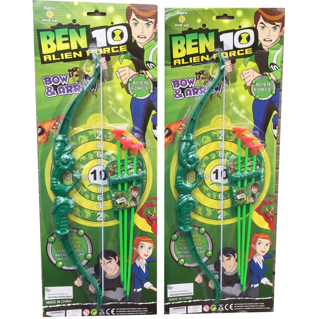 Đồ chơi bắn cung tên nhựa hít tường Ben 10
