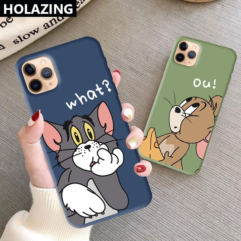 Ốp Điện Thoại Silicon Mềm Màu Kẹo Hình Tom Và Jerry No.1 Cho Iphone 12 Mini 11 Pro Max Iphone Xs Max Xr Se 2020 8 Plus 7 6s