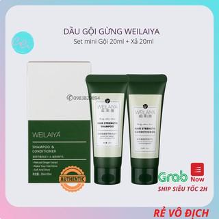 Bộ dầu gội đầu Weilaiya ngăn rụng, kích thích mọc tóc mini size (20+20ml) thumbnail