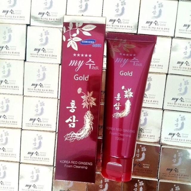 Sữa rửa mặt hồng sâm Hàn Quốc my gold – My foam cleansing 130ml - 10035518 , 610236528 , 322_610236528 , 150000 , Sua-rua-mat-hong-sam-Han-Quoc-my-gold-My-foam-cleansing-130ml-322_610236528 , shopee.vn , Sữa rửa mặt hồng sâm Hàn Quốc my gold – My foam cleansing 130ml