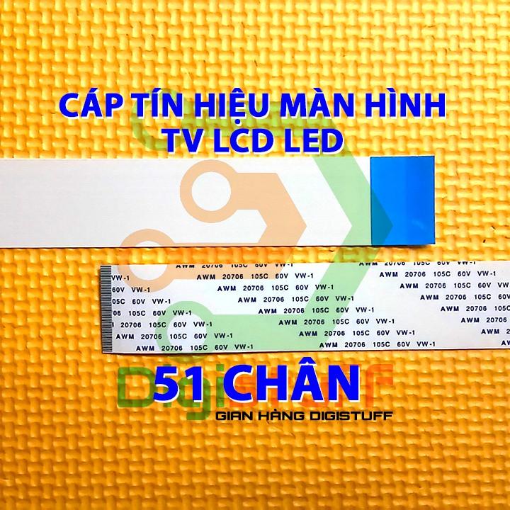 Cáp dẹt 51 chân thay cáp tín hiệu màn hình của TV ( màn hình LCD / LED )