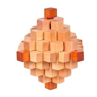 WX_Novelty Wooden Interlocking Burr Puzzle IQ Brain Teaser Adults Kids Game Toy